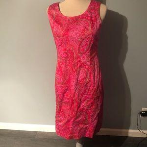 Jones New York shift dress in pink paisley